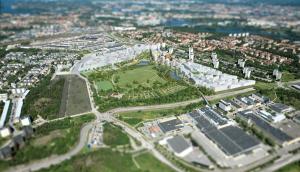Årstafältet. Bild lånad från bygg.stockholm.se